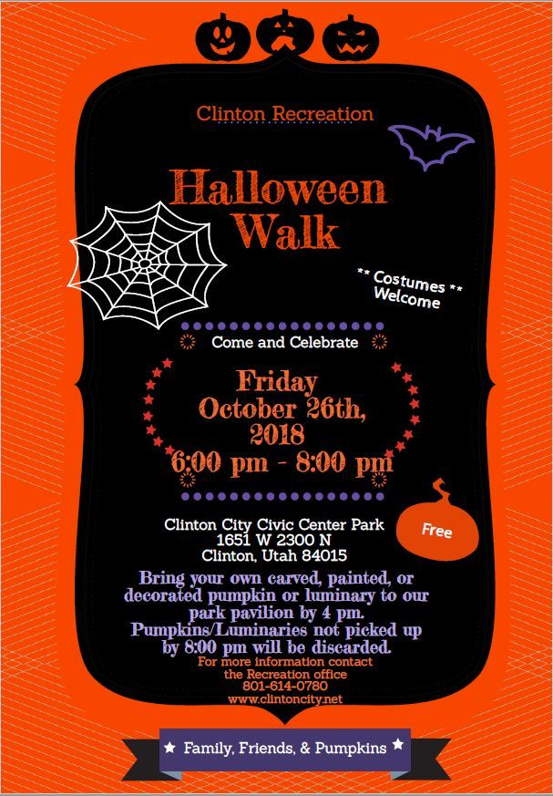 2018 Halloween Walk Flyer