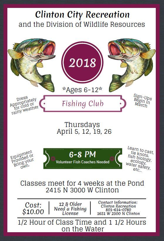 2018 Fish Club Flyer