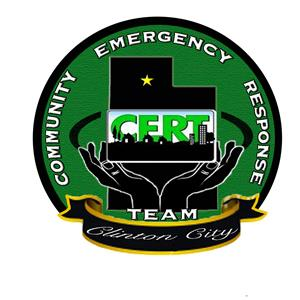 CERT patch that reads - Community Emergency Response Team Clinton City
